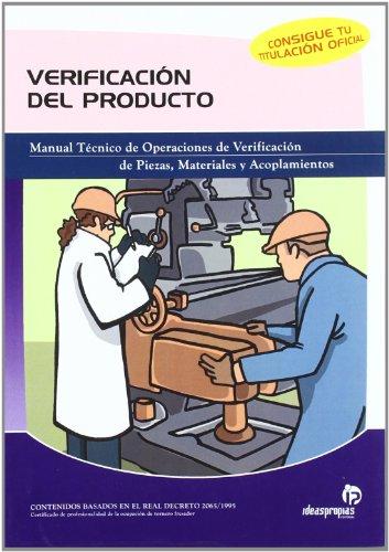 Descargar Libro Verificación Del Producto: Manual Técnico De Operaciones De Verificación De Piezas, Materiales Y Acoplamientos Pablo Comesaña Costas