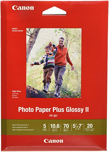 "CanonInk Photo Paper Plus Glossy II 5"" x 7"" 20 Sheets (1432C002)"