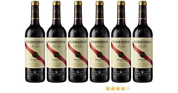 Caja de Paternina Reserva D.O. Rioja Vino tinto - 6 botellas x 750 ml. - 4500 ml: Amazon.es: Alimentación y bebidas