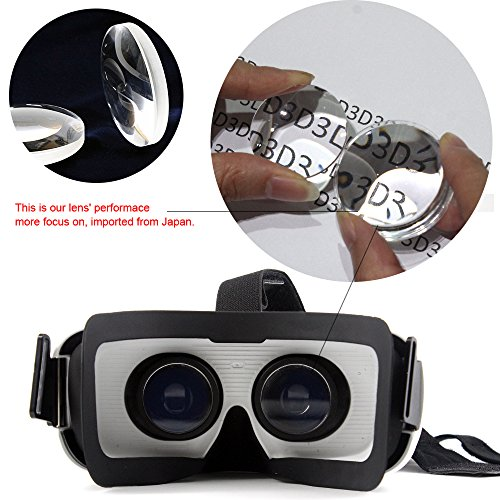 Crelander Virtual Reality Headset Bluetooth Built-in Eye Protected HD Adiustable Headset 3D Zoom Glasses with Adjustable Lenses & Head Strap for IMAX Movie Game Andriod/IOS Cellphone (Work with Siri) by Crelander (Image #5)