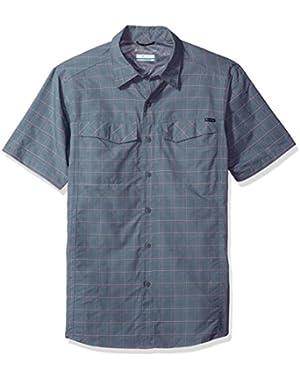 Men's Silver Ridge Multi Plaid Short Sleeve Shirt, Grey Ash Dobby Plaid, Medium