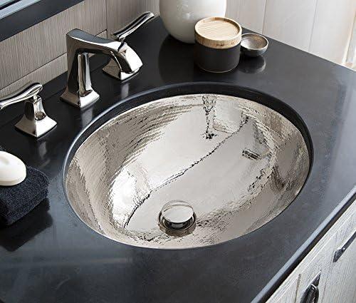 Native Trails CPS868 Classic Copper Under Under mount Bathroom Sink, Polished Nickel