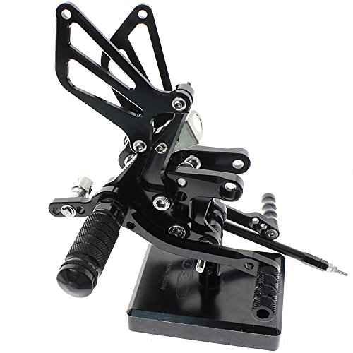 - Motorcycle Rearset Foot Pegs Rear Set Footrests Fully Adjustable Foot Boards Fit For GSXR750 GSXR600 1996-2005,GSXR1000 2000-2004,SV650 SV650S SV1000 SV1000S 1998-2014