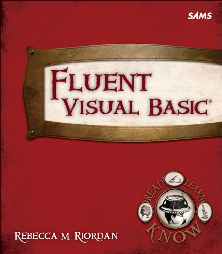 [PDF] Fluent Visual Basic Free Download | Publisher : Sams | Category : Computers & Internet | ISBN 10 : 0672335808 | ISBN 13 : 9780672335808