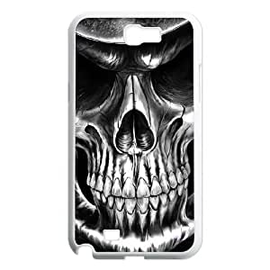 Artistic Skull Shell Phone for samsung galaxy note2 White Cover Phone Case