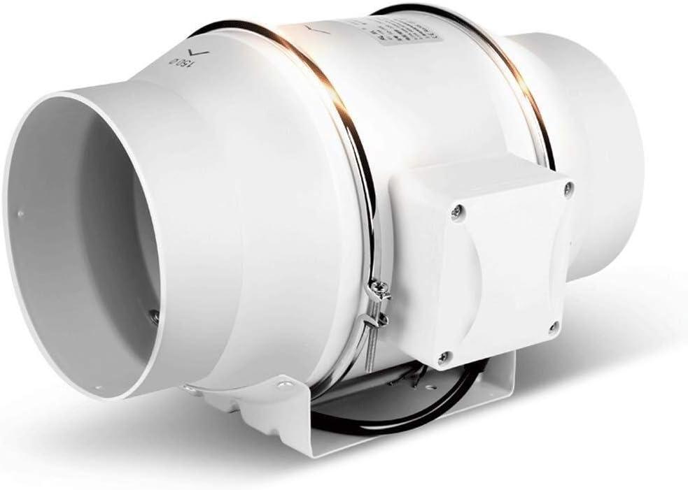 Ventilador de conducto Redondo 150 Extractor Potente silencioso ...