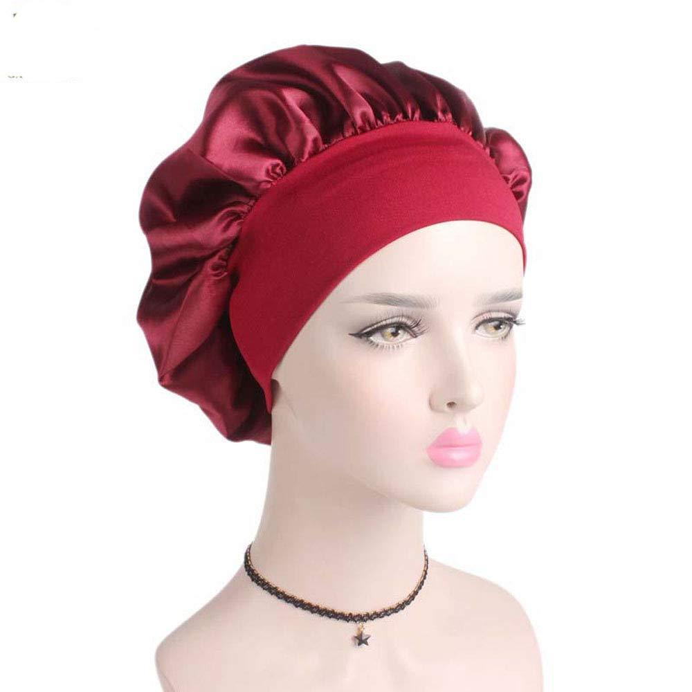 MoonyLI Satin Bonnet Hat Schlafm/ütze Sleeping Head Cover Geeignet f/ür Frauen und M/ädchen