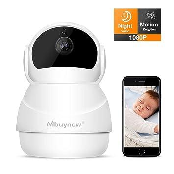 Caméra de Surveillance sans Fil 1080p,Mbuynow Caméra de Surveillance Dômes WiFi  Caméra IP WiFi 4af659b2684c