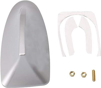 BQLZR La señal decorativa de plata de la aleta del tiburón mejora el detector de antenas del tejado de FM / de la antena de radio del coche