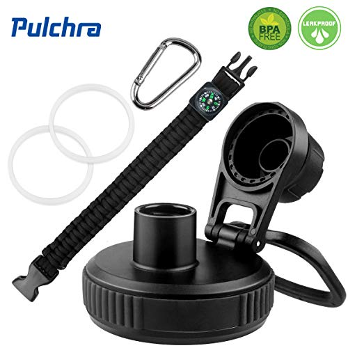 Pulchra Handle Paracord Firm Strap Cord Holder Fits Wide Mouth Bottle with Safety Ring and Buckle Carabiner Multiple Colors Carrier