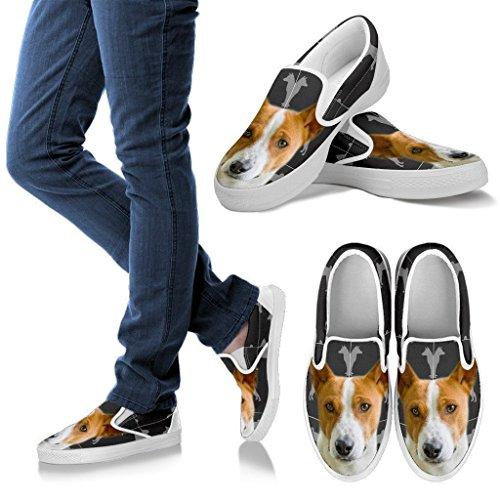Basenji 3D Print Slip-Ons Shoes, Light Weight Slip On For