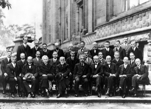 1927 Solvay Conference on Quantum Mechanics Physics Albert Einstein Marie Curie Poster Photo Historical