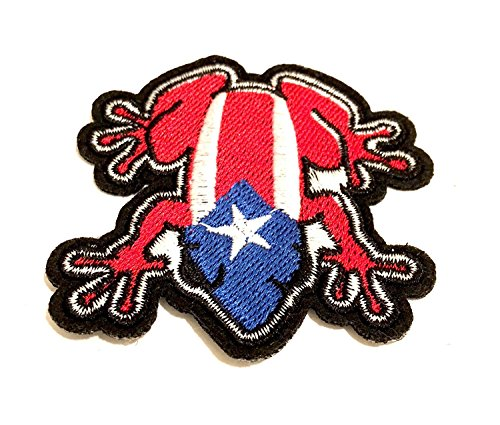 Puerto Rico Wholesale - Puerto Rico Wholesale Patches 10pc Iron on/sew on Puerto Rico Patch el coquí 2.5x2.