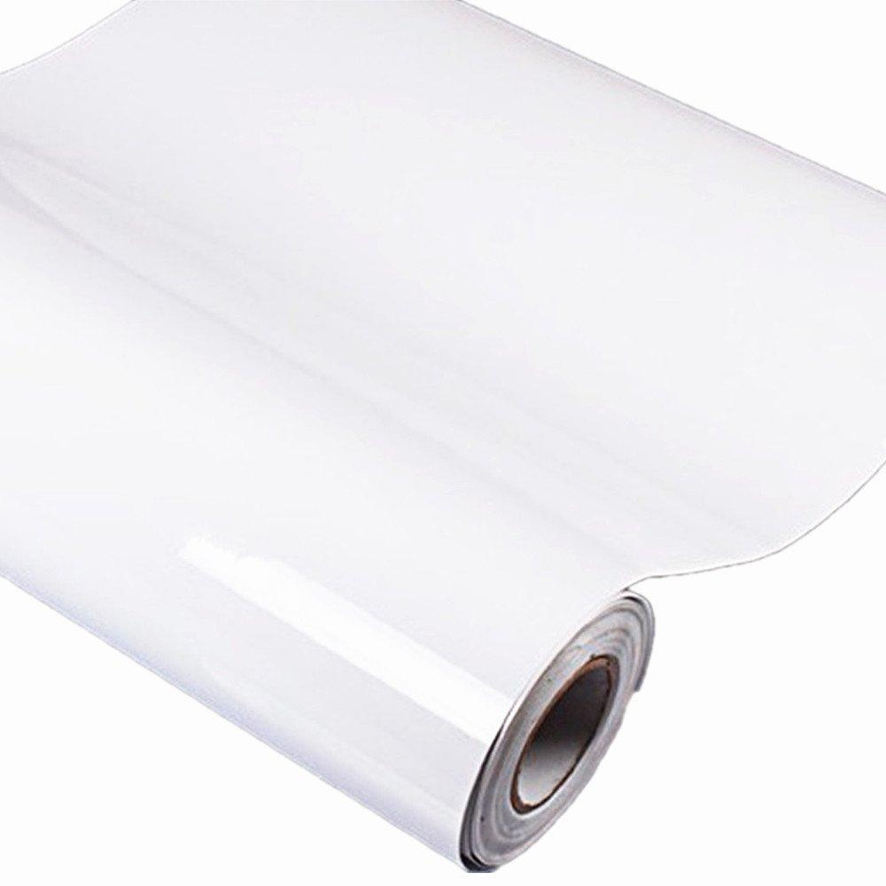 Bestevers Solid Color Pearl Film Vinyl Self Adhesive Counter Top Peel Stick Wallpaper Decal,24''x79'' (White)