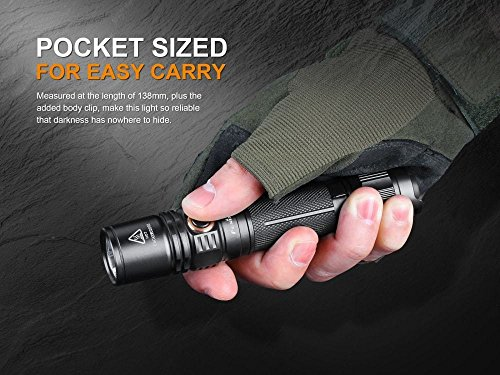 Fenix PD35 Version 2 2018 Upgrade 1000 Lumen Flashlight w/ 2X 3500mAh Rechargeable Batteries, are-X2 Charger and LumenTac Battery Organizer by Fenix (Image #4)