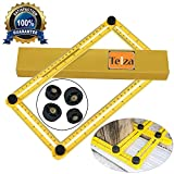 Angleizer Template Tool | Telza Multi Angle Measuring Ruler Forms Shaper | Layout Angle-izer With Metal Screw Threads for Handymen Builders Crafters DIY Engineers Carpenters