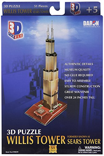 Building Tower - Daron Willis Tower 3D Puzzle 51-Piece