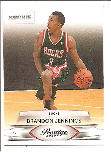Brandon Jennings Milwaukee Bucks 2009-10 Panini Prestige Rookie Basketball Card #210