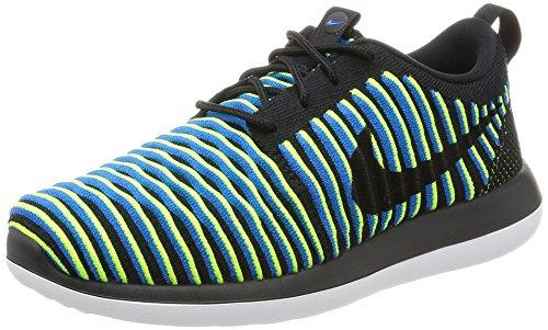 Nike Dames Roshe Two Flyknit Zwart / Zwart-foto Blue-volt