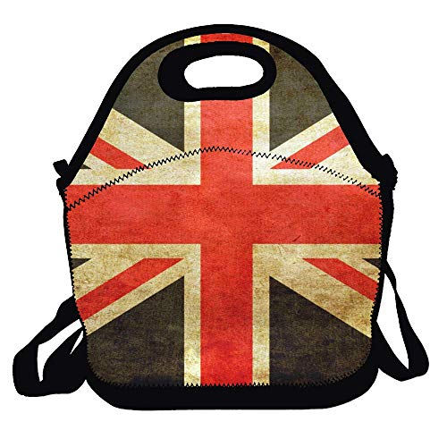 Lunch Bag Lunch Tote Lunch Box Handbag For Kids And Adults - Union Jack British Flag Style