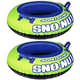 Sportsstuff Inflatable 48-Inch Sno-Nut Snow Tube with Foam Handles (2 Pack)