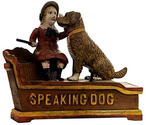 Global Art World J. E. Stevens Company 1897 Re-Creation Heavy Quality Antique Style Cast Iron Mechanical Vintage Speaking Dog Money Box Bank MB 04 by Global Art World (Image #2)