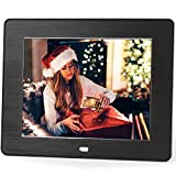 Micca M808z 8-Inch 800x600 High Resolution Digital Photo Frame With Auto On Off Timer - MP3 and Video Player (Black)