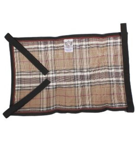 Kensington Belly Band For Horse Under Belly - Protects Under Belly When Attached to Traditional Cut Protective Sheet - Offers Maximum Protection Year Round - Citrus Slate Plaid