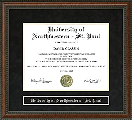 University Of Northwestern St Paul Tuition >> Amazon Com University Of Northwestern St Paul Diploma Frame