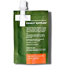 Ernest Supplies Protective Matte Moisturizer for Men, On-The-Go Pouch – Premium, Plant-Based Anti-Aging Face Lotion to Control Oil and Shine, with Antioxidants, 2.5 Oz.