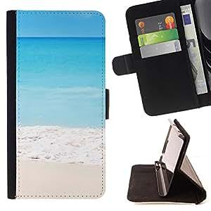 - Beach sunsine sun - - Monedero pared Design Premium cuero del tir?n magn?tico delgado del caso de la cubierta pata de ca FOR HTC Desire 820 Funny House