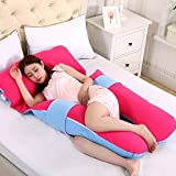 LUOTIANLANG cotton type U ergonomically designed pillow for pregnant women in pregnancy and lactation pillow adjusting detachable multifunctional pillow height,B,Free size