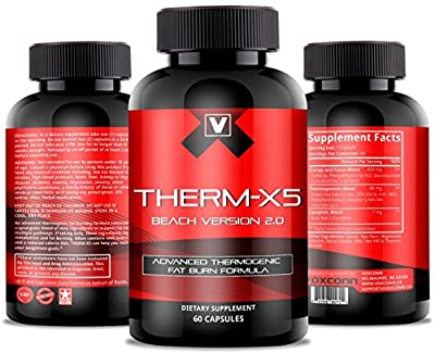 Therm-X5   No.1 Weight Loss Supplement, Thermogenic Fat Burner, Appetite Suppressant, Energy Booster, Metabolism Support with Acetyl L-Carnitine, Green Tea Extract, Raspberry Ketones & More 60 Ct
