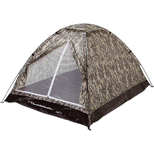 Original Digital Camo 4 Person Camping / Hiking / Hunting Tent with Fiberglass Poles and Storage (Digital Tent)