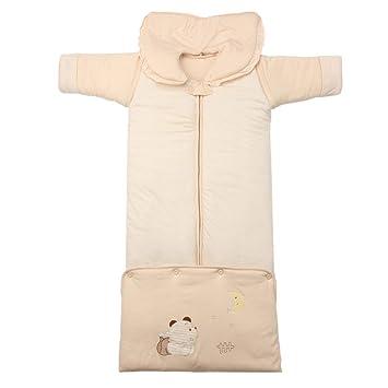 LLX Saco De Dormir De Bebé Invierno Manga Larga,Material De Algodón, Cálido Y Cómodo.105cm/12-36 Meses,Brown-M: Amazon.es: Hogar