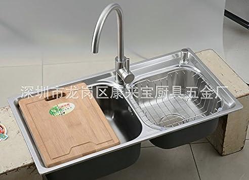 Doppelwaschbecken Edelstahl ein zug edelstahl waschbecken doppelwaschbecken edelstahl
