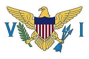 magFlags XXS Flag Virgin Islands, U.S. | landscape flag | 0.24m² | 2.5sqft | 40x60cm | 1.3x2foot - 100% Made in Germany - long lasting outdoor flag