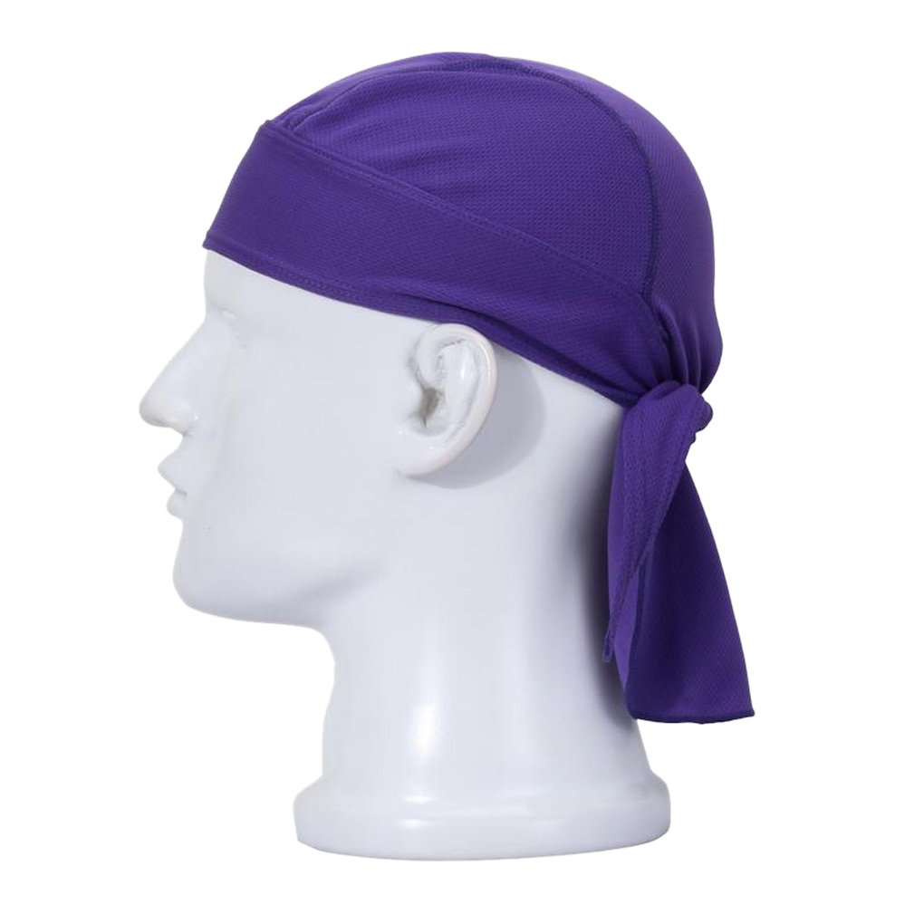 Fakeface Quickly Dry Moisture Wicking Breathable Sun UV Protection Sports Sweatband Headwear Cycling Running Adjustable Sweat Beanie Bandana Hat Bike Motorcycle Head Wrap Scarf Skull Cap Helmet Liner