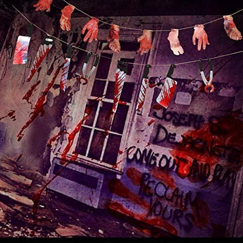 Amazon.com: Turnmeon - Decoración sangrienta para Halloween ...