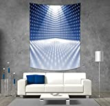 iPrint Polyester Tapestry Wall Hanging,Light Blue,Vibrant Dotted Stage Image Movie Theater Performance Famous Reveal Decorative,Blue Light Blue White,Wall Decor for Bedroom Living Room Dorm