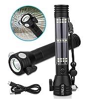 Solar Powered LED Flashlight - XREXS mul...