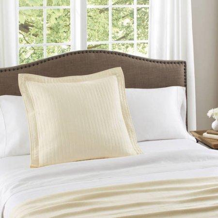 Better Homes & Gardens Solid Cotton Euro Sham, Fresh Ivory from Better Homes & Gardens
