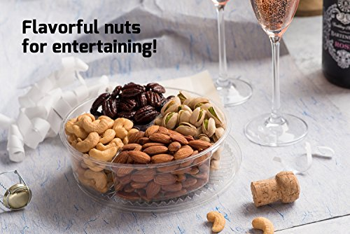 Nut Cravings Father's Day Gift Baskets - 4-Sectional Gourmet Mixed Nuts Prime Food Gift Tray - Healthy Holiday Gift Assortment For Birthday - Sympathy - Get Well - Corporate Gift Box - Or Any Occasion by Nut Cravings (Image #5)'