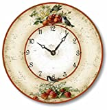 Item C2042 Vintage Style 10.5 Inch Birds Cherries & Strawberries Clock For Sale