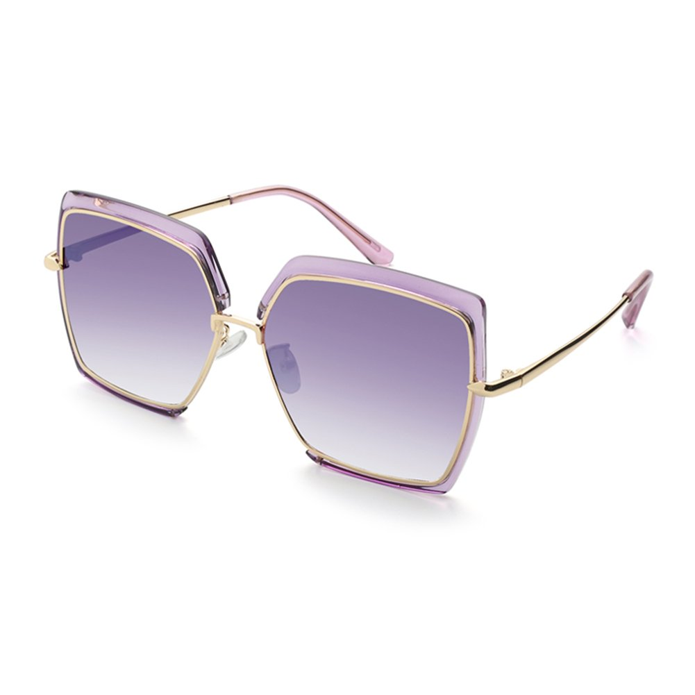 Purple Women Sunglasses Polarized Oversized Round Sunglasses for Women by blueEKIKI YEUX