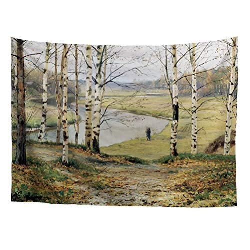 Spring Warner Isaac Levitan Russian Landscape Arts Peaceful Poplars Forest Classic Oil Painting Art Dorm Decoration Tapestry