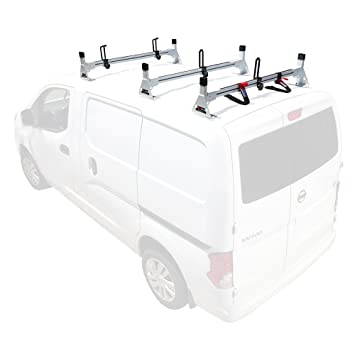 amazon vantech h1 3 bar for nissan nv200 aluminum roof rack MB Minivan amazon vantech h1 3 bar for nissan nv200 aluminum roof rack 2013 on white automotive