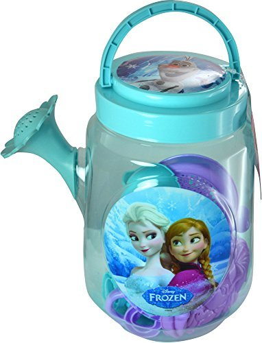 Disney Frozen Beach Watering Can with Sandbox Toys - 6 Piece Set