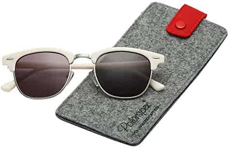b8dee8e9375 Polarspex Unisex Retro Classic Stylish Malcom Half Frame Polarized  Sunglasses