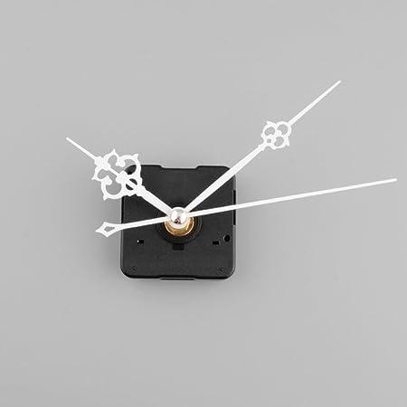Meccanismo di Movimento di Ricambio Orologio da Parete al Quarzo Silenzioso con lancette Bianche,Kit di Riparazione Parti di Ricambio Fai da Te